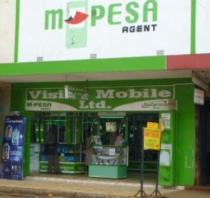 An M-pesa agent's shop