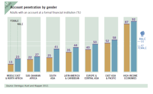 Account penetration by gender