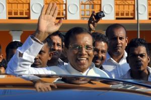 The unexpected president of Sri Lanka.EPA/STR